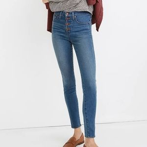 """Madewell Button Front 10"""" High Rise Skinny Jean 27"""